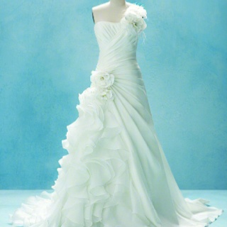 Disney Inspired Gown: Cascading ruffles in taffeta and satin organza pay tribute