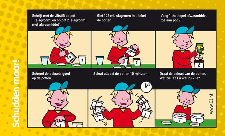 Ontdek wat er gebeurt als je slagroom en afwasmiddel mixt!
