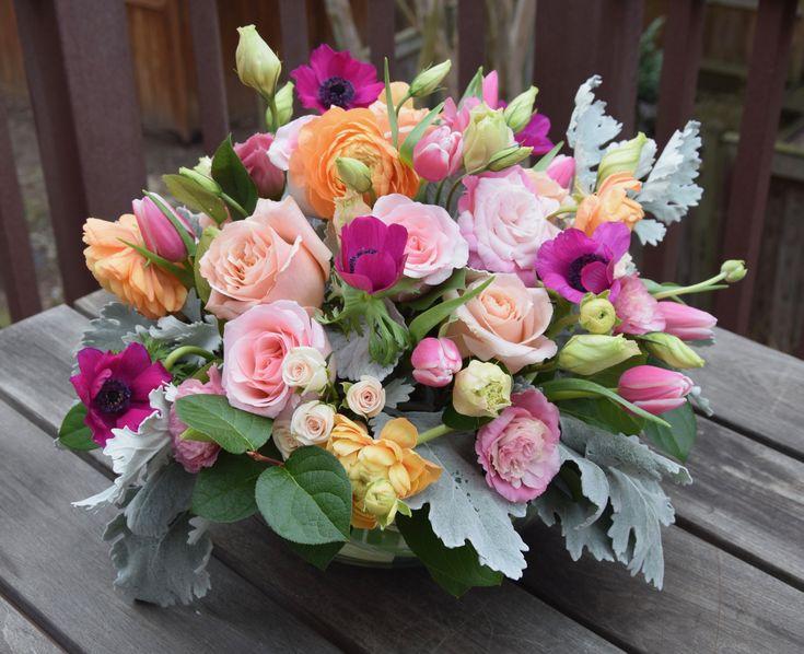 Valentine's Day gorgeous centerpiece/flower arrangement.