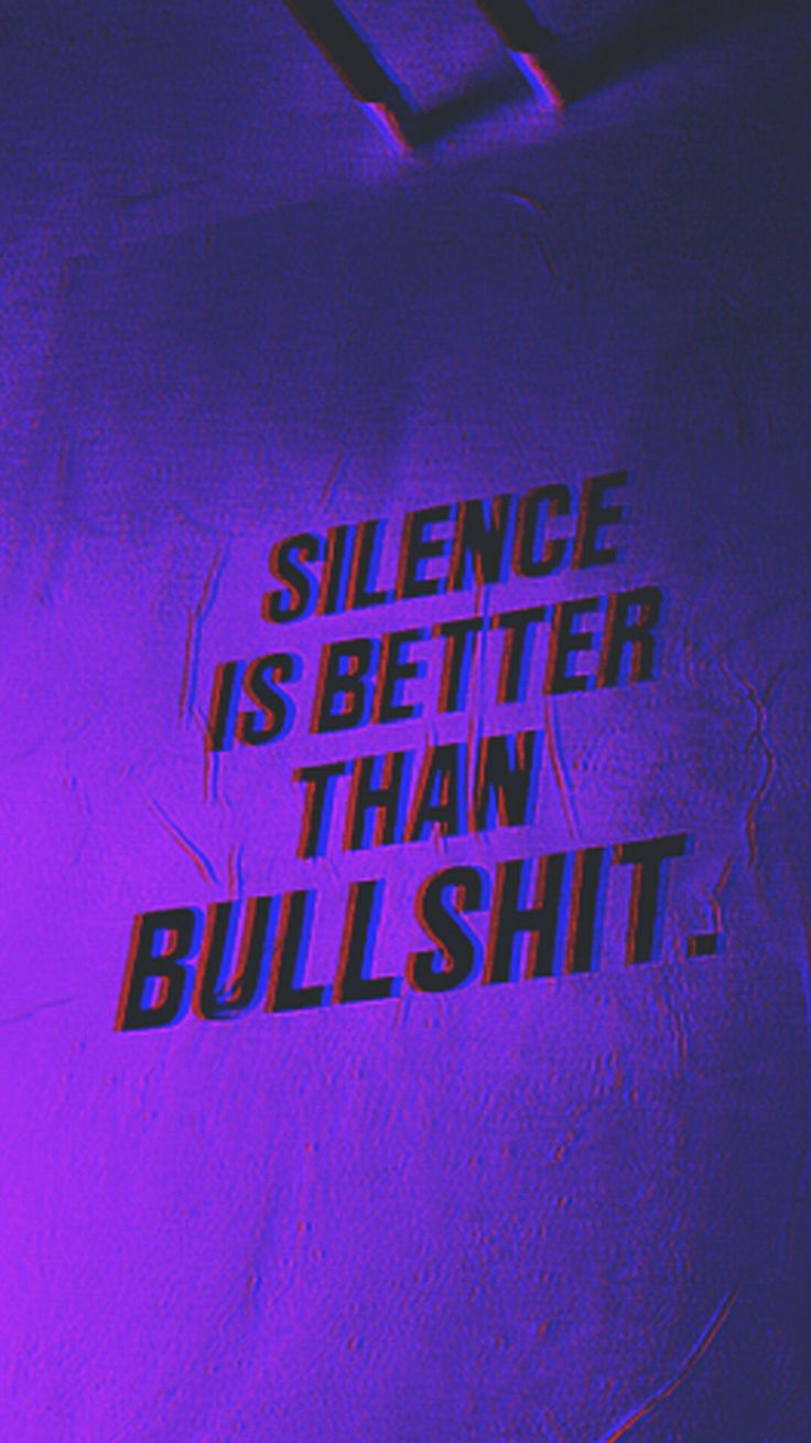 But I'm really not enjoying this silence rn//