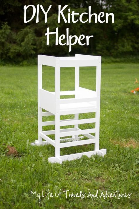 Kitchen Helper - Toddler Step Stool  #KitchenHelper #StepStool #DIY