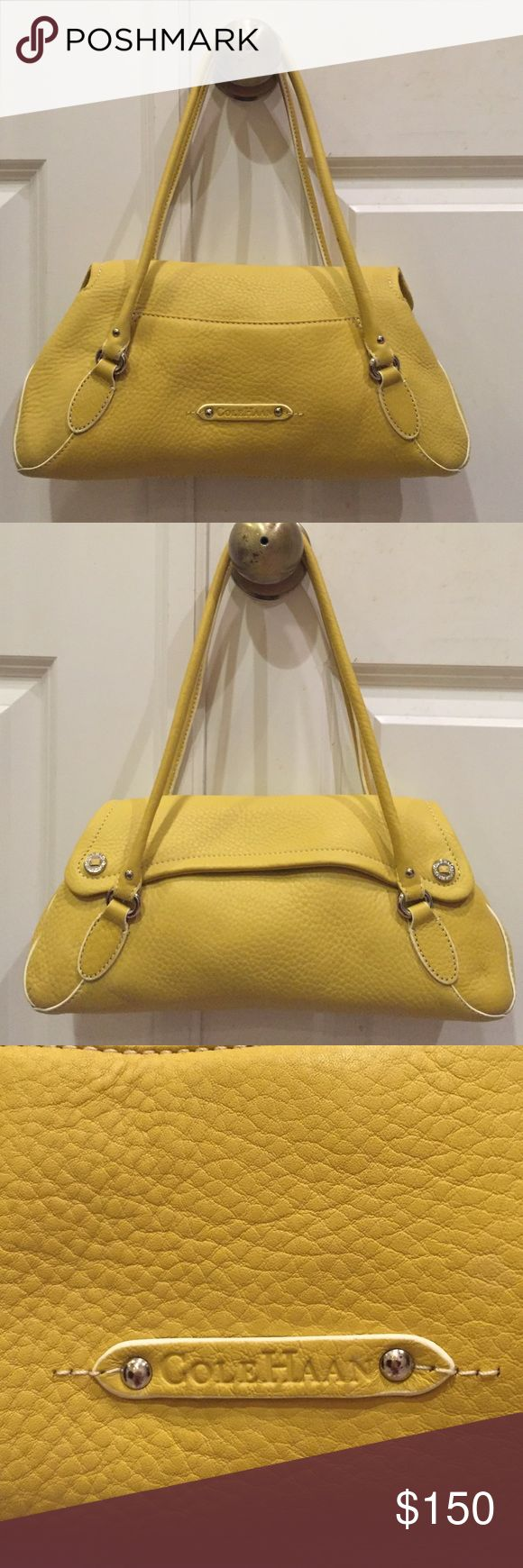 Cole Haan purse Brand new never used cute yellow Cole Haan purse. Has plenty of room yet not too big of a purse! Cole Haan Bags