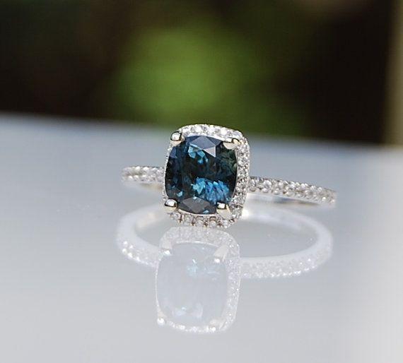 1.56ct Cushion Peacock blue color change sapphire by EidelPrecious