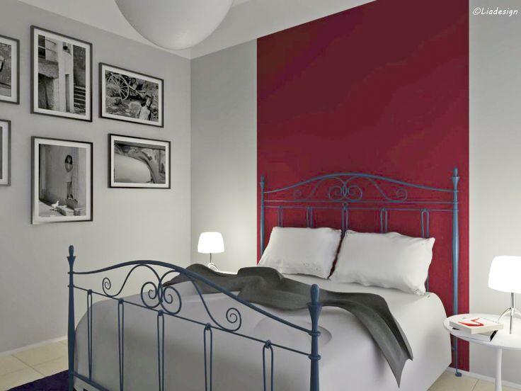 Progetto decorativo per una camera da letto. Tema portante: il letto in ferro battuto, contestualizzato in chiave giovane e contemporanea. Carta da parati Wall & Decò. Maggiori dettagli:...