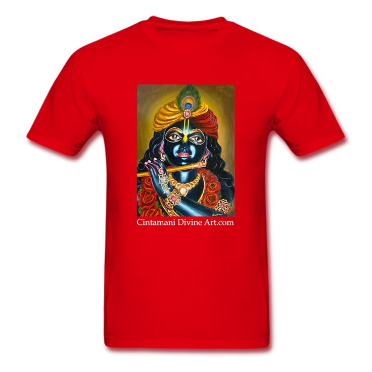 Red Rose Śyām T- Shirt - https://cintamanidivineart.com/product/t-shirt-2/