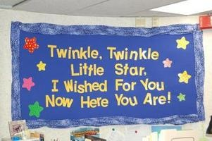 Beginning of the Year Bulletin Board- Write students' names on the stars