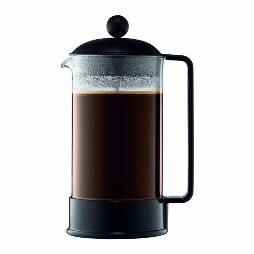 One Cup Coffee Maker Bodum : Bodum Brazil 8-Cup French Press Coffee Maker, 34-Ounce, Black - List price: USD 27.00 Price: USD 19.99 ...
