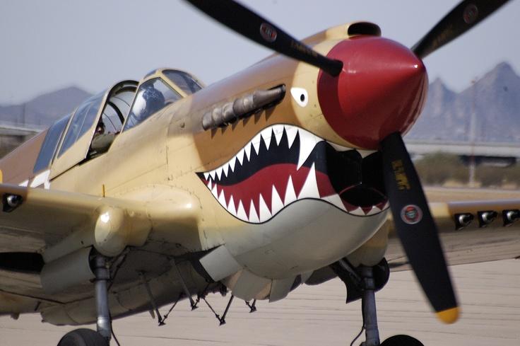 P-40 Warhawk, in war paint