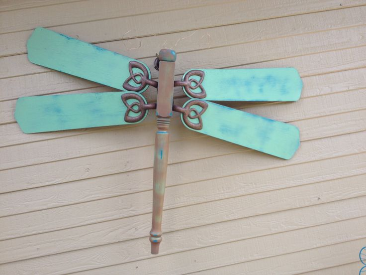 Dragonfly made from ceiling fan blade! I have extra blades too!