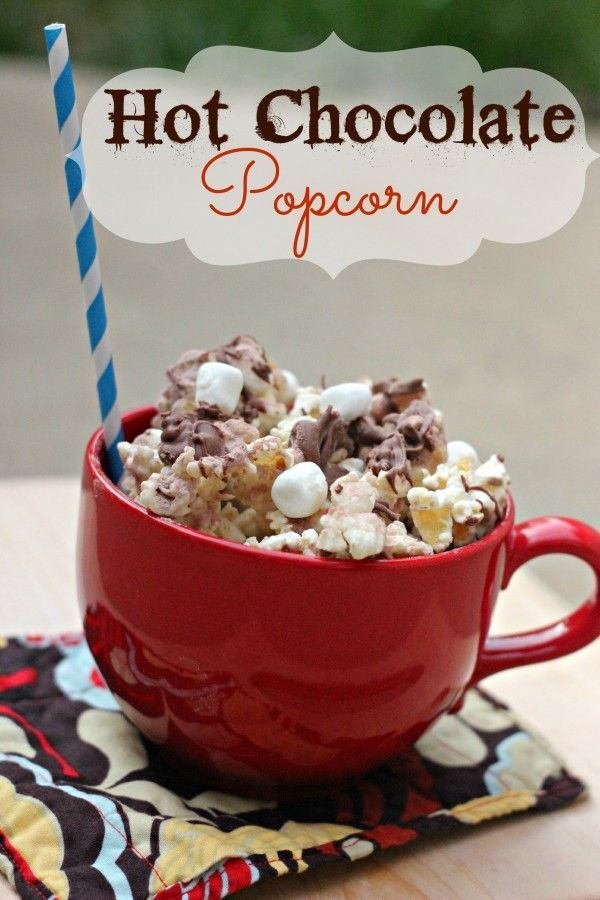 Hot Chocolate Popcorn is the perfect way to enjoy hot chocolate on a warm summer day! Perfect movie treat to make for family movie night from Clever Housewife.