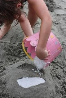 When I take the kids to California for the first time, do this with them so they can remember their first trip to the beach!