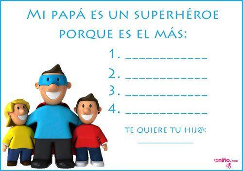 Manualidades del Día del Padre para imprimir - Especial Día del Padre - Juegos y fiestas - Guia del Niño