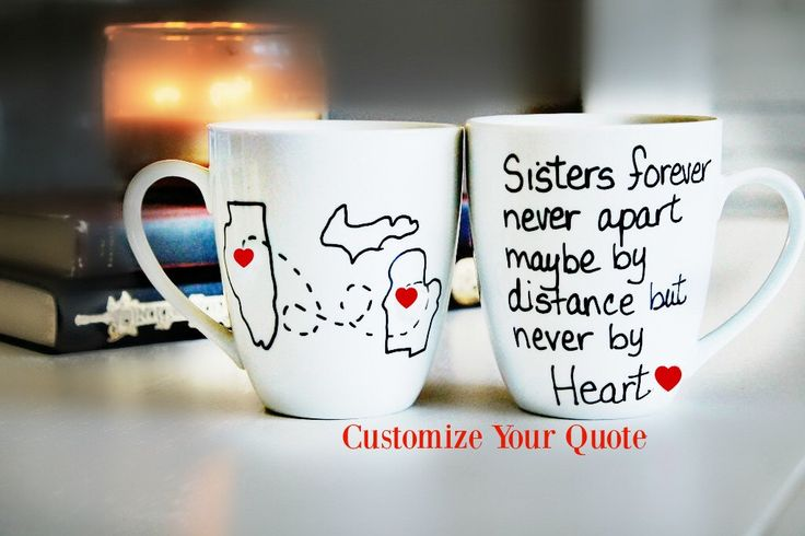 Unique Sisters Birthday Gift - Moving away gift - Sisters Birthday- 15 oz large coffee mug by Brusheswithaview on Etsy https://www.etsy.com/listing/202669768/unique-sisters-birthday-gift-moving-away #sister, #sisterbirthdaygift, #sistermug