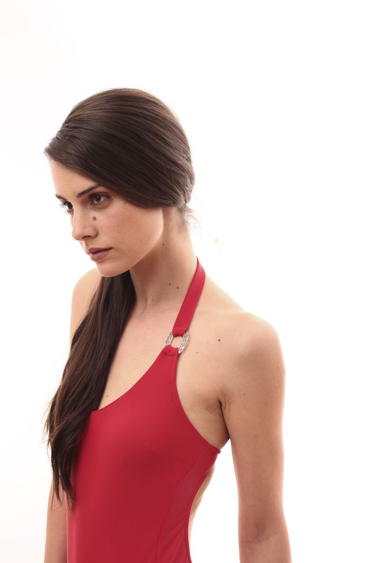 One-piece red swimsuit @pelsoswimwear