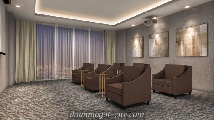 Interior design movie room apartemen DAMOCI