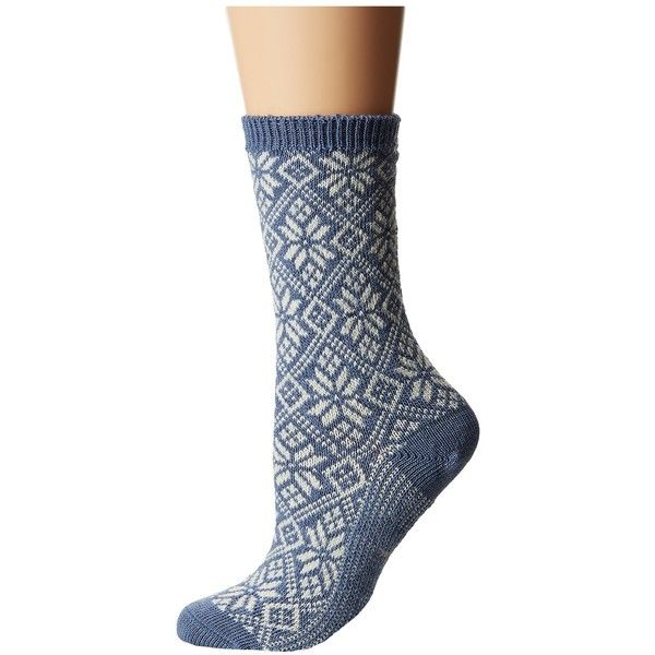 Smartwool Traditional Snowflake Women's Crew Cut Socks ($24) ❤ liked on Polyvore featuring intimates, hosiery, socks, crew socks, merino wool crew socks, smartwool socks, merino socks and merino wool socks