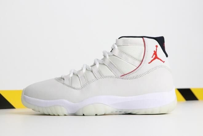 reputable site d1fb4 2c0be 2018 Air Jordan 11 Platinum TintSail-University Red 378037-016