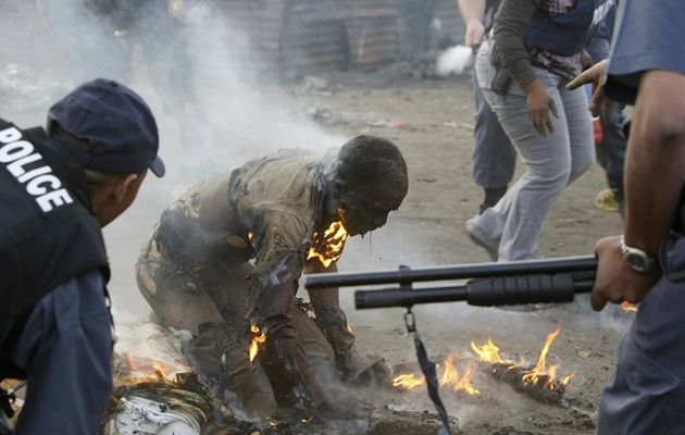 Ernesto Alphabeto Nhamwuave from Mozambique was burnt alive and later died in hospital. Xenophobic attacks took place in Johannesburg South Africa CBD and Ramaphosa informal settlement were several people were killed and injured. SA's xenophobia shame: 'burning man' case shut - Times LIVE