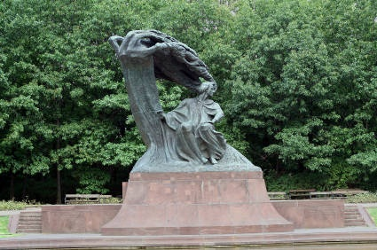 Chopin Monument in Warsaw
