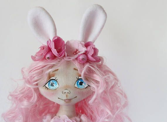 Bunny doll Collectable doll Decor doll Home doll Baby doll