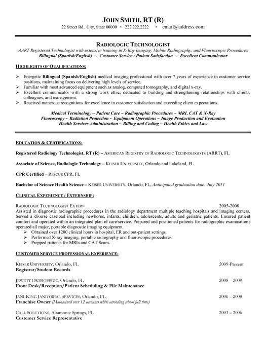 Best 25+ Radiologist technician ideas on Pinterest Vet tech - radiologic technologist sample resume