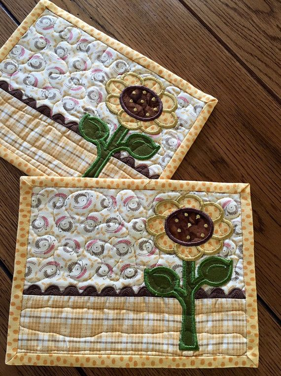 1000 Ideas About Sunflower Quilts On Pinterest Quilting