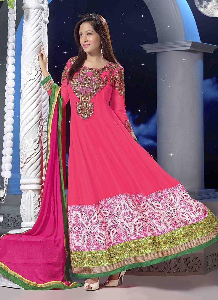 Pretty Pink Aaliya #Anarkali #Suit