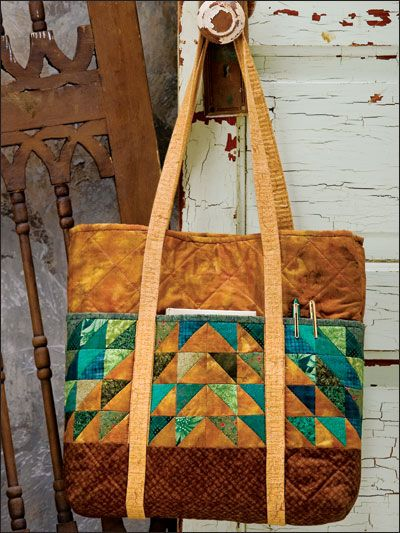 Quilting - Clothing & Accessories Patterns - Bag & Tote Patterns - Evergreen Business Tote Quilted Bag Pattern