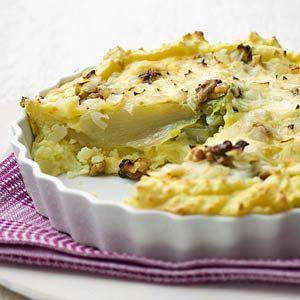 Recept - Aardappel-witloftaart - Allerhande