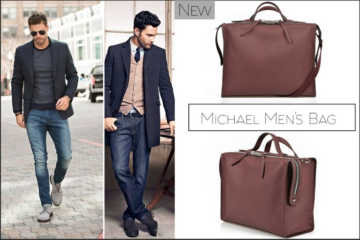 The brown Michael men's bag is perfect to carry your laptop and other important documents @w