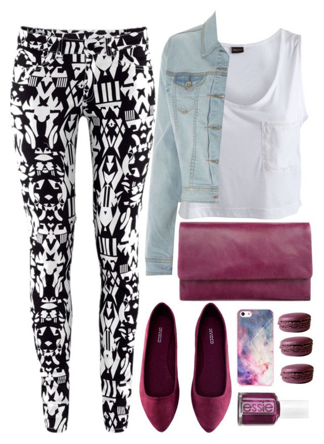 """""""Alaa."""" by stylisheve ❤ liked on Polyvore featuring Pieces, H&M, Status Anxiety, BlissfulCASE, Essie, women's clothing, women, female, woman and misses"""