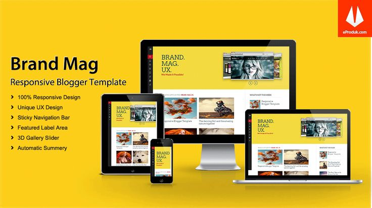 Responsive Blogger Template v6 Brand Mag UX is a pure and fully responsive Magazine Blogger Template builds with latest technologies like HTML and CSS3.
