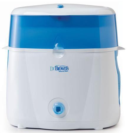 Dr.Brown's Электрический паровой стерилизатор  — 5477р. -------- Электрический паровой стерилизатор Dr.Brown's полностью обеспечит стерилизацию бутылочек Dr.Brown's Natural Flow всех типов и размеров, а также принадлежностей для кормления. Этот прибор преобразует сырую воду в интенсивное паровое тепло, уничтожающее все бактерии. Он вмещает шесть детских бутылочек Dr.Brown's любого размера и их компоненты, включая соски, держатели сосок, втулки и трубки вентиляционной системы и диски. В него…
