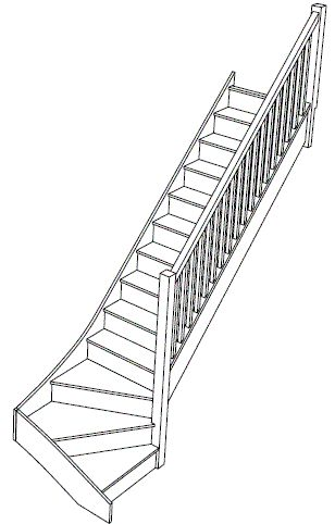staircase with bottom stairs turned   Material Specification on these standard staircases is as follows.