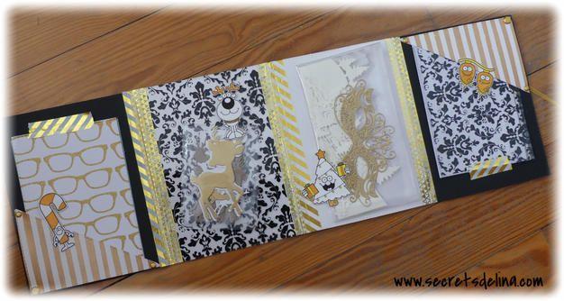 Flipbook wishes christmas gold black white voeux noel or noir blanc #secretsdelina