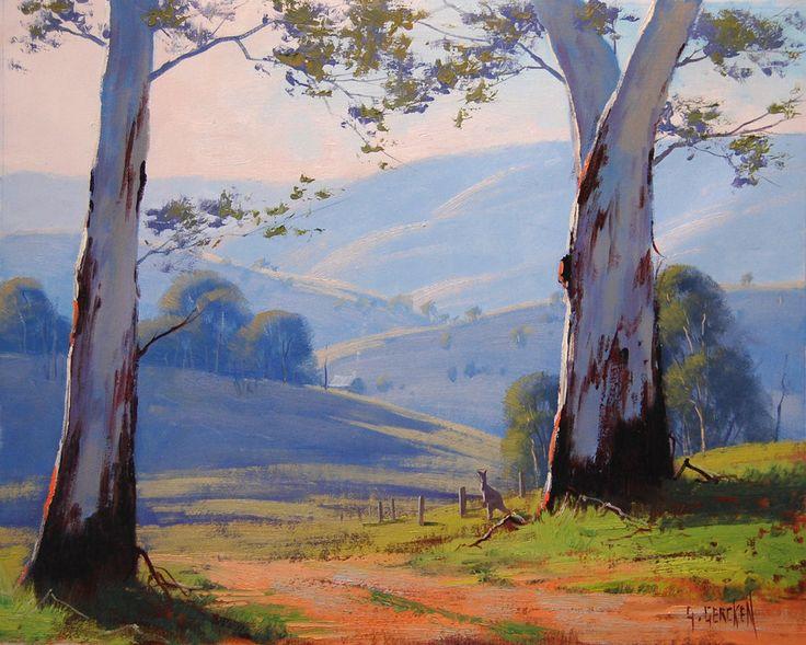 Australian Gum trees by artsaus on deviantART. Paintings by Graham Gercken (artaus on deviantART) are all in Oil on linen canvas using both brush and palette knife.