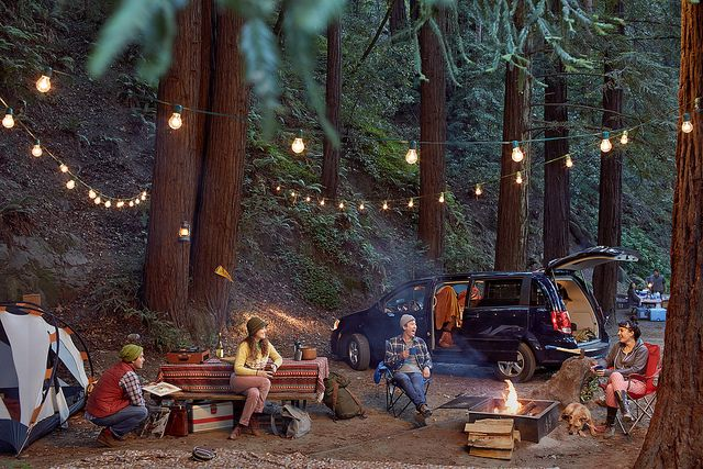If I ever owned a lot of land I'd make a camping spot just like this where friends and family can come camp and hang out.