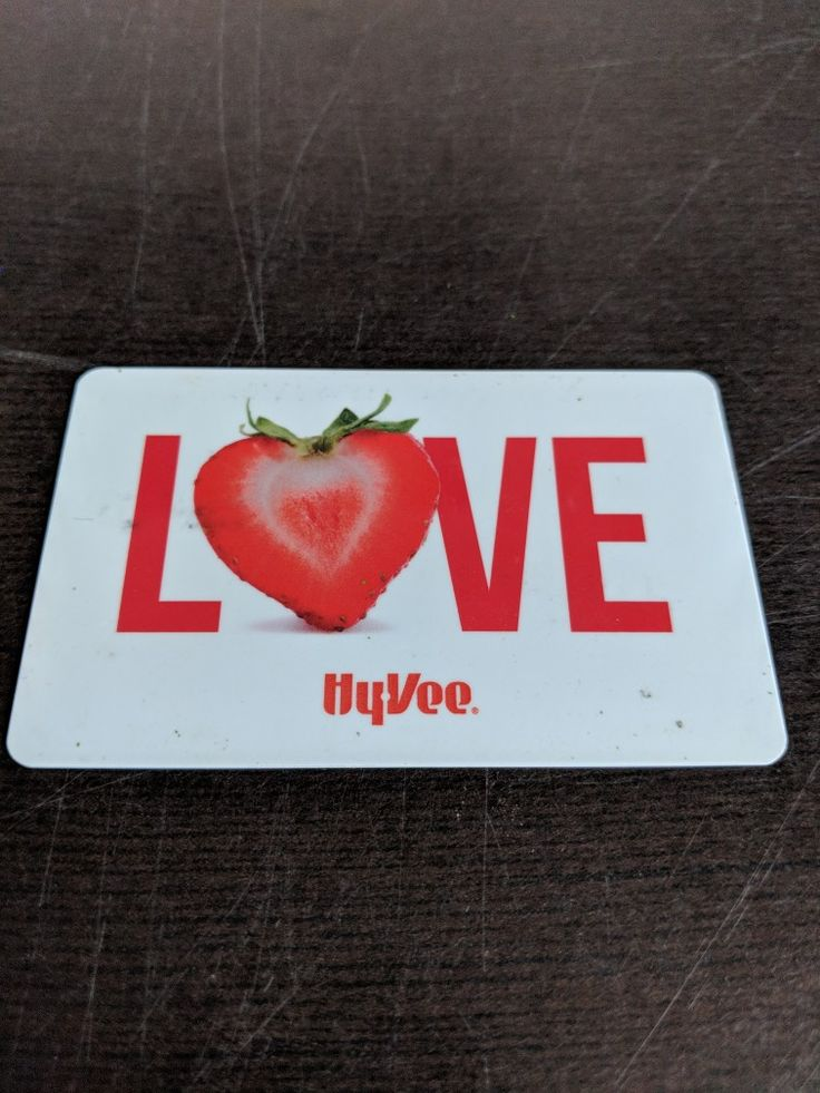 Hyvee love strawberry gift card strawberry gifts