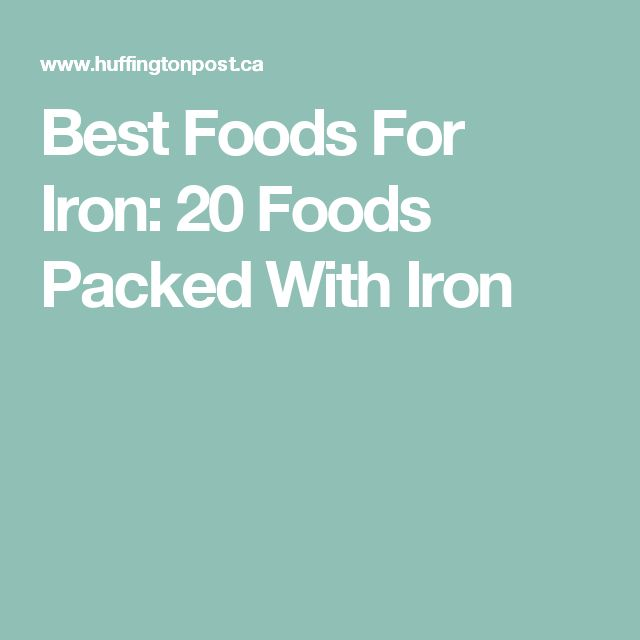Best Foods For Iron: 20 Foods Packed With Iron