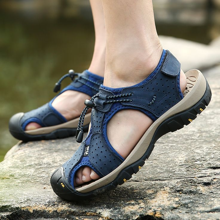 Men Sandals Genuine Leather Cowhide Male Summer Shoes Outdoor
