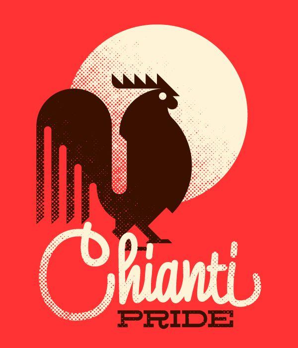 Chianti Pride / Marco Goran Romano #poster #illustrazione #grafica #marcogoranromano #goran #animali #uccelli #gallo