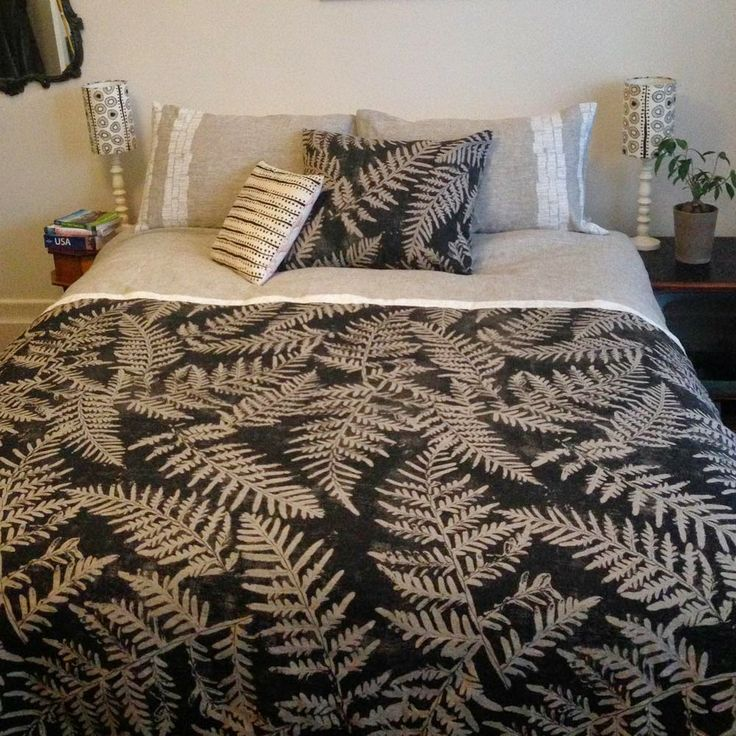 ink and spindle: Bracken bedroom duvet.  Gorgeous!! Not on the website but enquiries welcome www.vidatextiles.co.nz