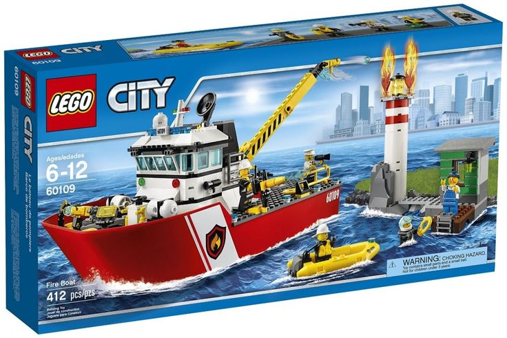 Lego CITY 60109 Hasičský člun - 0