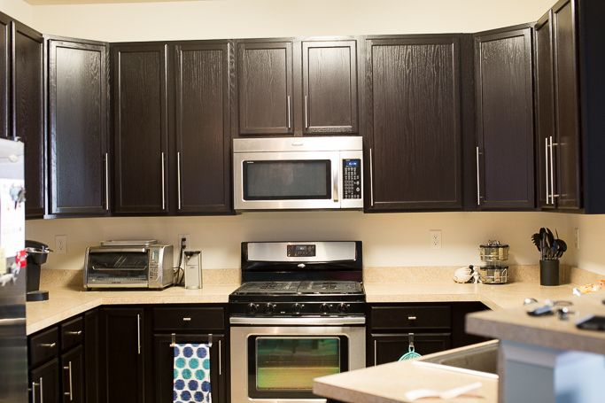 Kitchen Remodel with General Finishes Java Gel Stain - Mix & Match Fashion