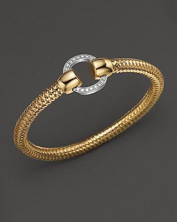 Roberto Coin 18K Yellow and White Gold Primavera Diamond Bracelet at London Jewelers!!