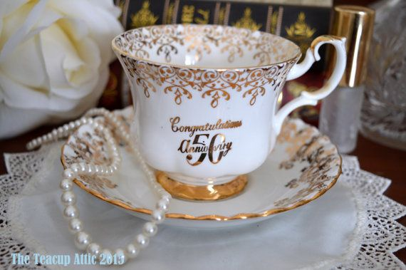Royal Albert Congratulations 50th Anniversary by TheTeacupAttic