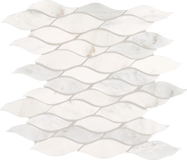 Marble Collection First Snow Elegance M190 Wave Mosaic