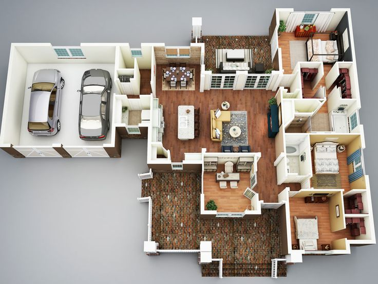 Apartment Floor Plans 3 Bedroom best 25+ 3d house plans ideas on pinterest | sims 4 houses layout