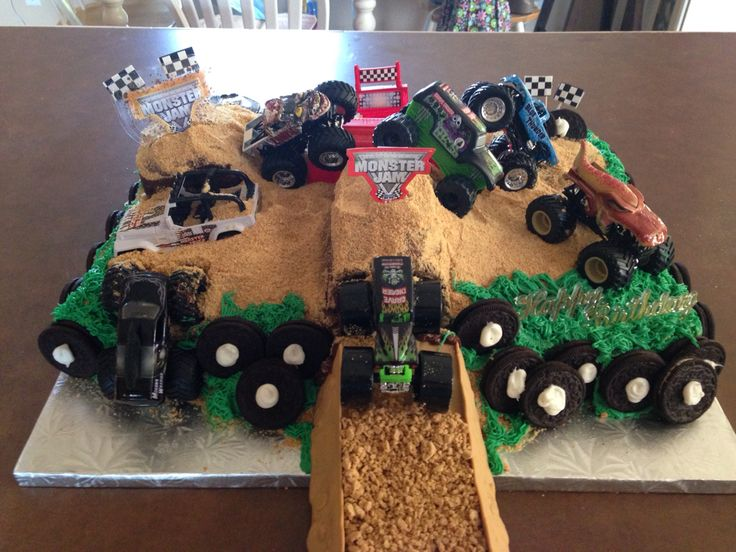 Monster Jam Cake Cake Decorating Pinterest Monster ...