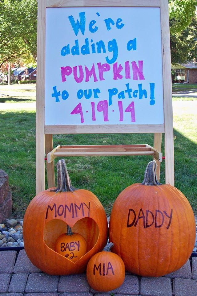Nice way of announcing your pregnant, especially a baby due around October